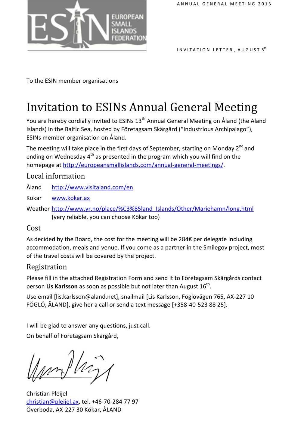 how to write an invitation letter for annual general meeting