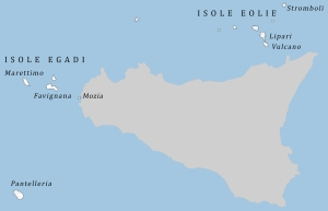 Islands of Sicily map