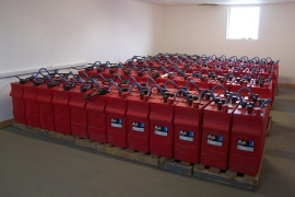 60 kW lead-acid battery storage