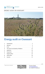 Energy Audit on Ouessant