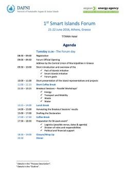 Smart Islands Forum Agenda