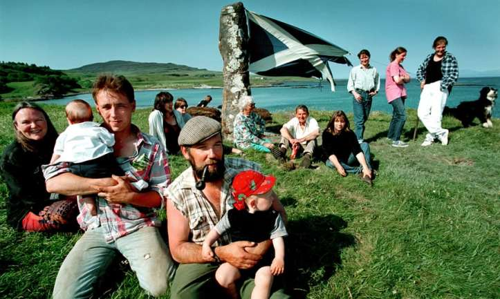 Eigg islanders