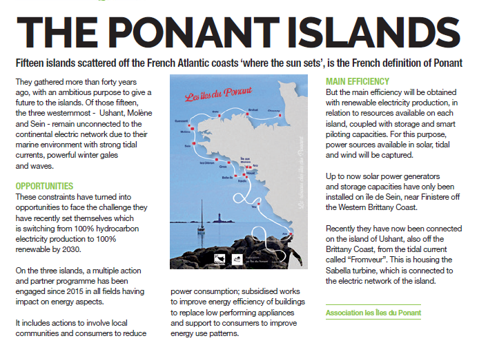english description îles du Ponant