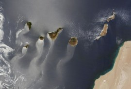 Canary Islands NASA Terra satellite 2013